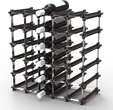 Nook Portabottiglie di Vino Kit Grande 50 Scaffale Portabottiglie con Sistema Modulare Pratica Cantinetta Portabottiglie