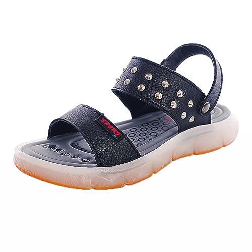 8f72d04c5 Zapatos de Verano Para Niños Sandalias de Cuero Para Niños LED Luces  Zapatos Para Hombres Zapatos de Mujer Carga USB Azul 37  Amazon.es  Zapatos  y ...