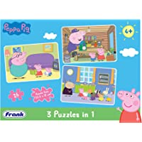 Frank Peppa Pig 3 Puzzles in 1 - 26 Pieces