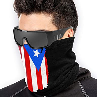 Puerto Rico American Flag Men /& Women Face Mask Windproof Neck Gaiter Winter Bandana For Skiing Snowboarding