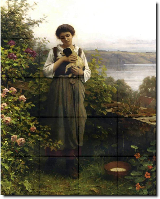 Ceramic Tile Mural Daniel Ridgway Knight Garden Painting 44 48 W X 60 H Using 20 12 X 12 Ceramic Tiles Amazon Com