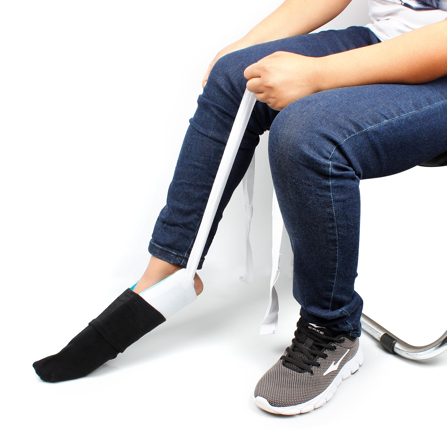 Socks Auxiliary Tool,Flexible Sock&Stocking Aid Kit,for Elderly, Disabled, and Handicapped