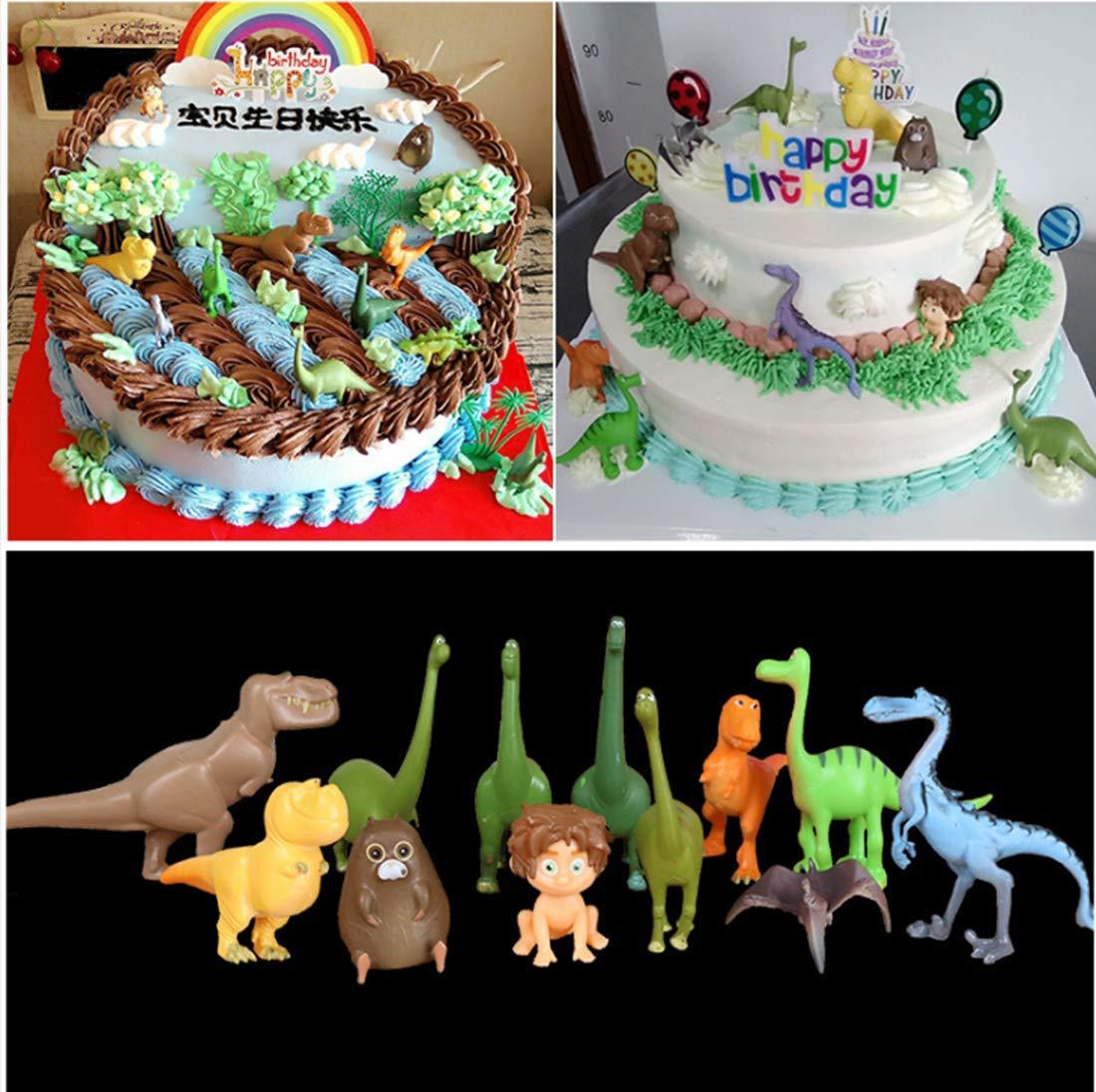Cake Decoration Game Toy Party Collection Disney Pixar Dinosaur Mini Action Figures。12pcs Dinosaur Cake Topper Birthday Party Supplies