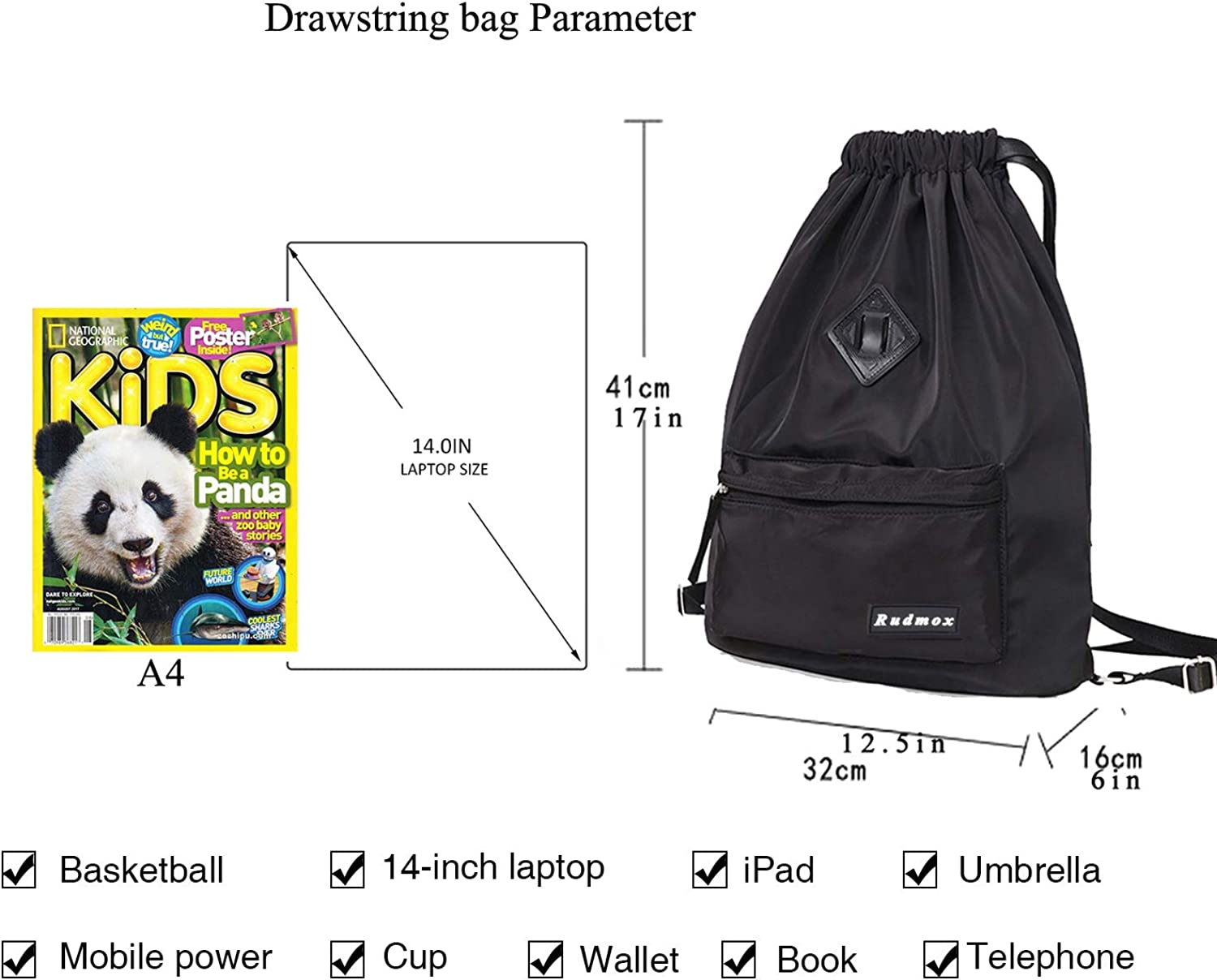 Quguangyan 3D Womens Bundle Backpack Drawstring Daypack for Outdoor Sports Travel School Shopping
