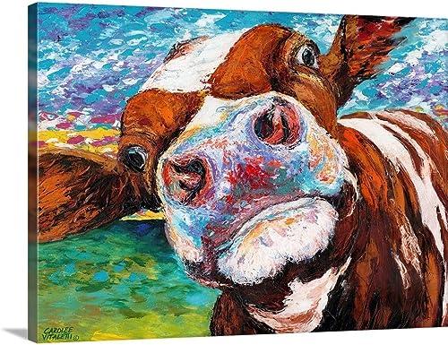 Curious Cow I Canvas Wall Art Print