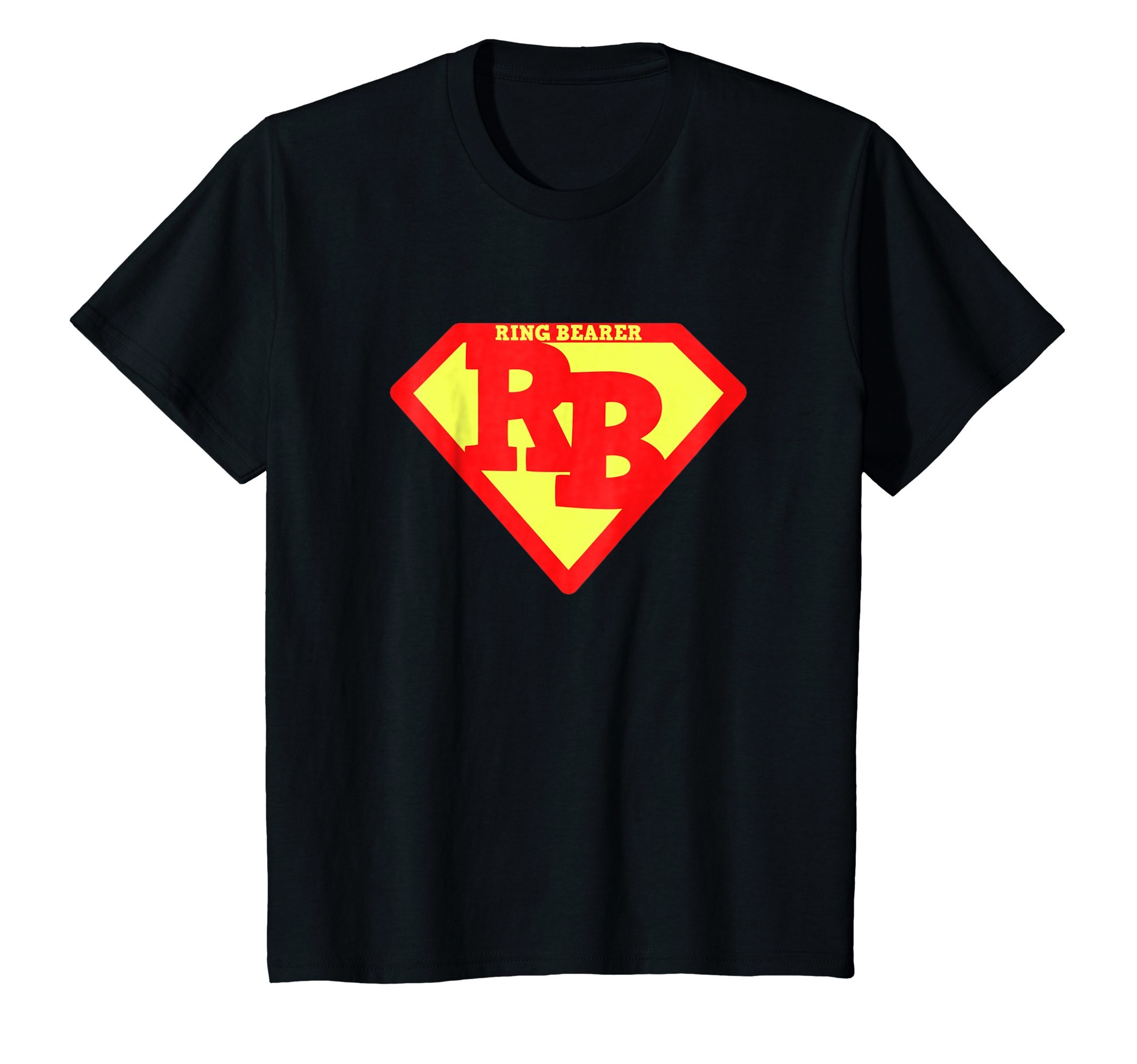 Kids Ring Bearer Super Cute Hero Shirt - Wedding Gift Tshirt 4 Black