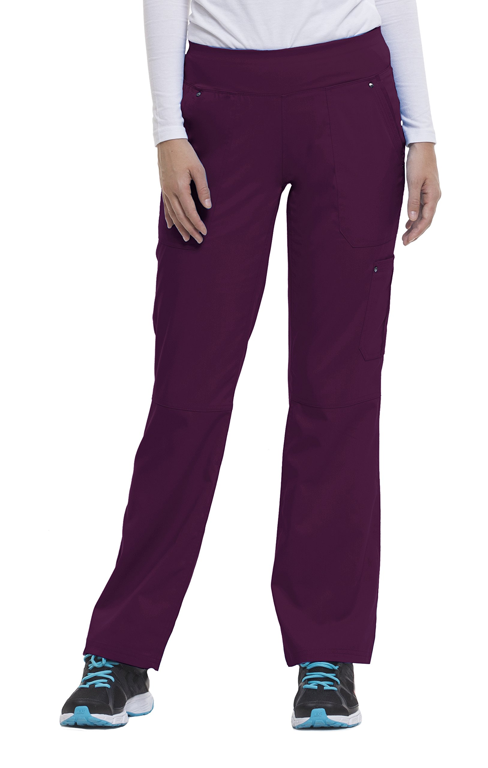 Healing Hands Purple Label Yoga Women's Tori 9133 5 Pocket Knit Waist Pant Wine- Small