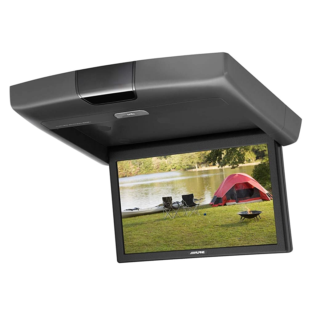 クリケット錫クローン(CR1506)15.6インチ 大画面 超高画質 フリップダウン DVDプレーヤー モニター 12V 24V車対応 HDMI 1080P USB SD ゲーム