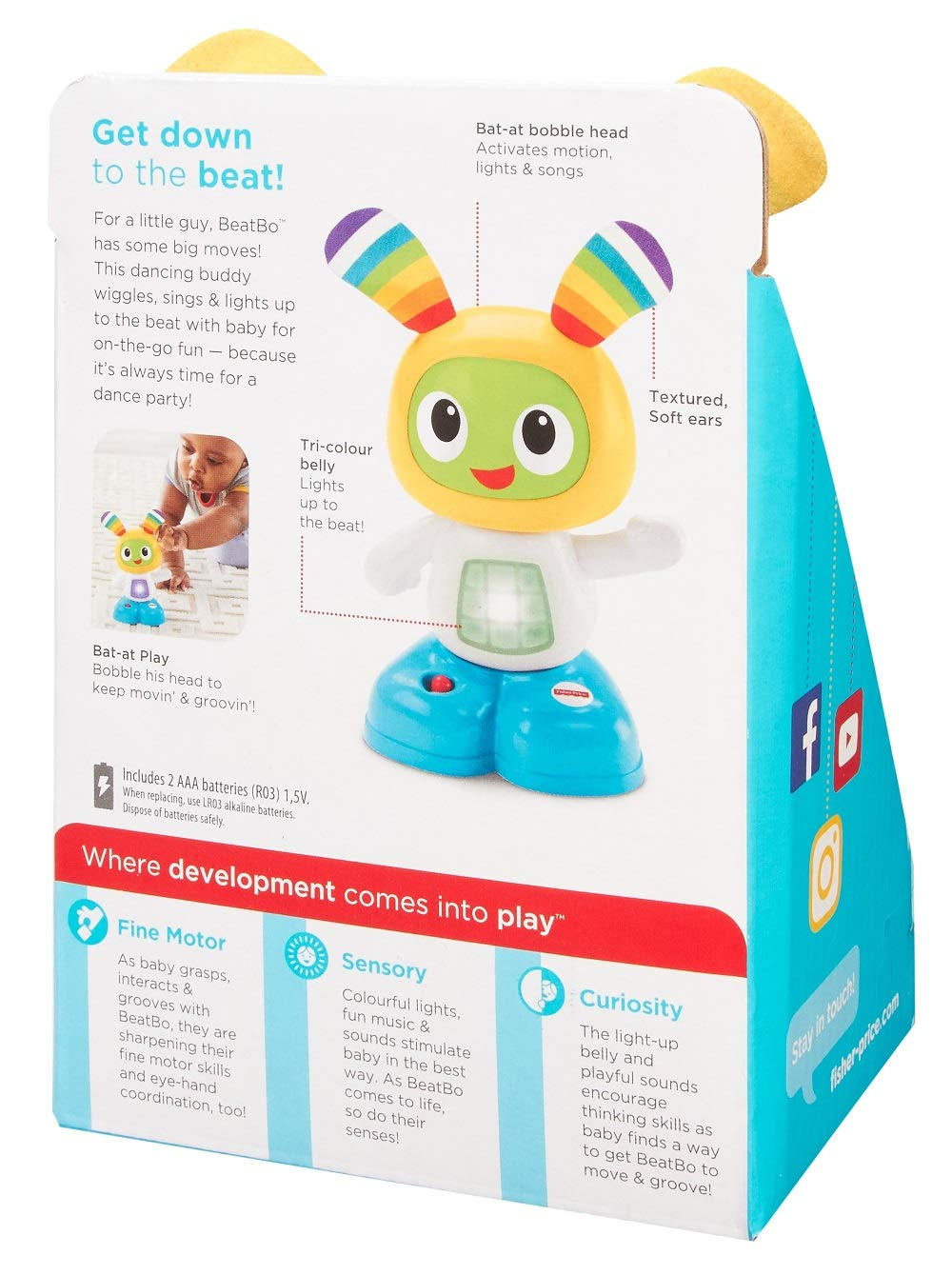 Fisher-Price FCW36 Juniors Beatbox, Baby Dance and Move Robot, Electronic Toy with Music and Lights, Suitable for 6 Months Plus