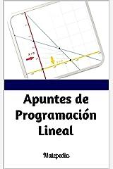 Apuntes de Programación Lineal: Matepedia (Spanish Edition) Kindle Edition