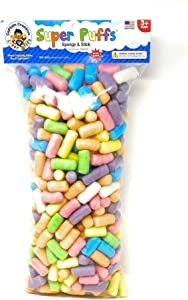 Super Puffs Pastel Colors - Large Bag, 500 Noodles - STEM Arts and Crafts Toy for Kids - Build, Decorate, Create - Biodegradable and Non-Toxic (CC10010)