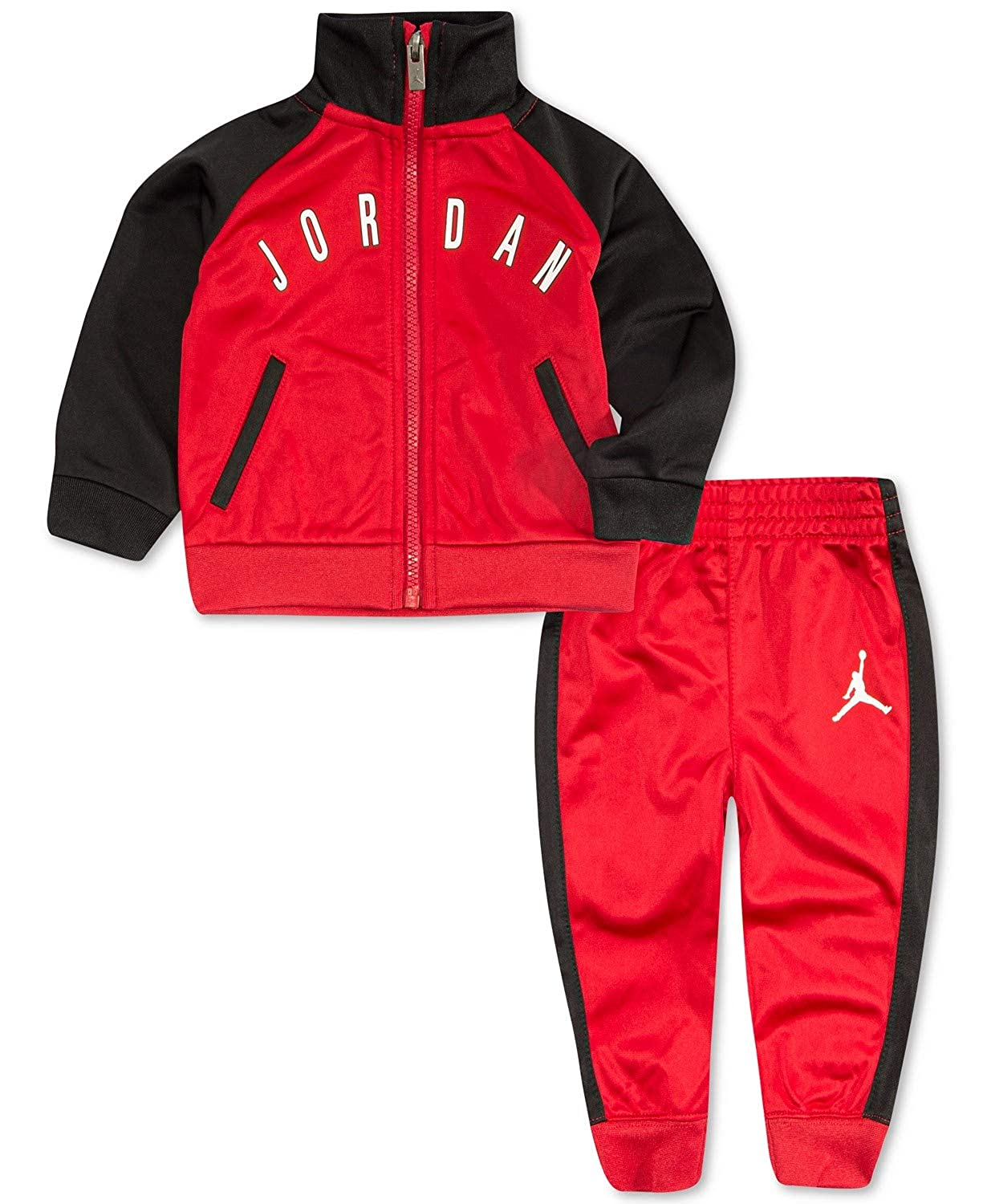 Jordan Little Boys 2-Pc Tricot Colorblocked Jacket /& Pants Set Size 7 $48.00 Red and Black