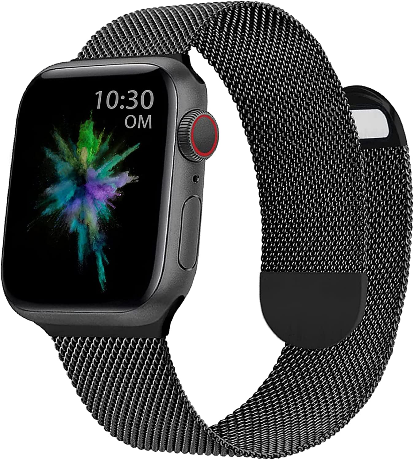 OMECKY Milanese Metal Watch Bands Compatible with Apple Watch 38mm 40mm 42mm 44mm, Magnetic Stainless Steel Mesh Straps Replacement for iWatch Series 6/5/4/3/2/1/SE