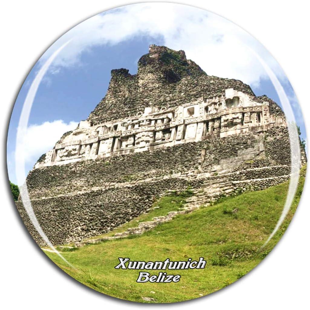 Weekino Belize Xunantunich Fridge Magnet 3D Crystal Glass Tourist City Travel Souvenir Collection Gift Strong Refrigerator Sticker
