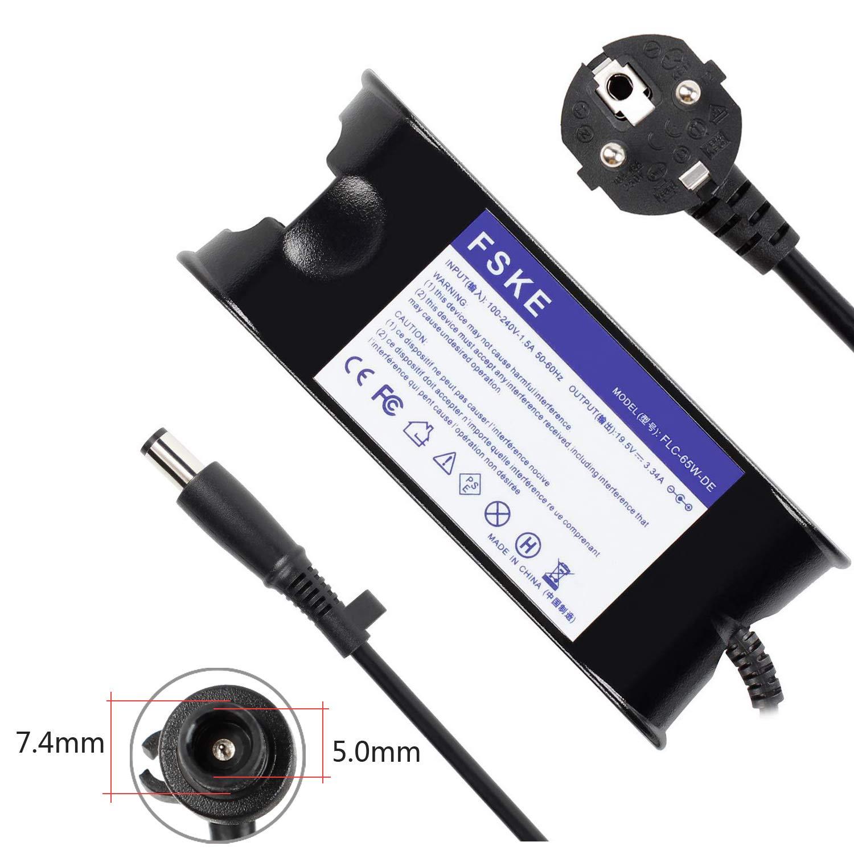 FSKE® 65W 19.5V 3.34A Cargador del Ordenador Portátil para DELL LA65NS0-00 Power Supply, XPS 13 Inspiron 15 13 17 Latitude E5440 E7240 Notebook EUR ...
