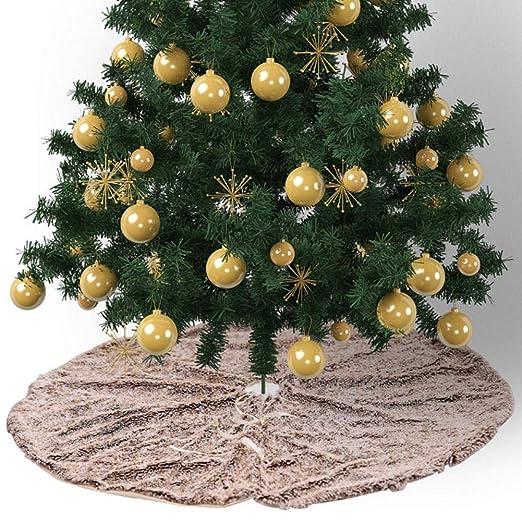 Yunt Falda del árbol de Navidad, decoración del árbol de la Felpa ...