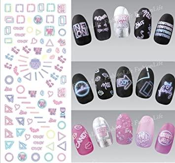 FOREVERJASMINE 5pcs Black Italic English Letters Notes Nail Art Sticker  HandWriting Decals Romantic Article French Manicure no15-in Stickers &  Decals from ...