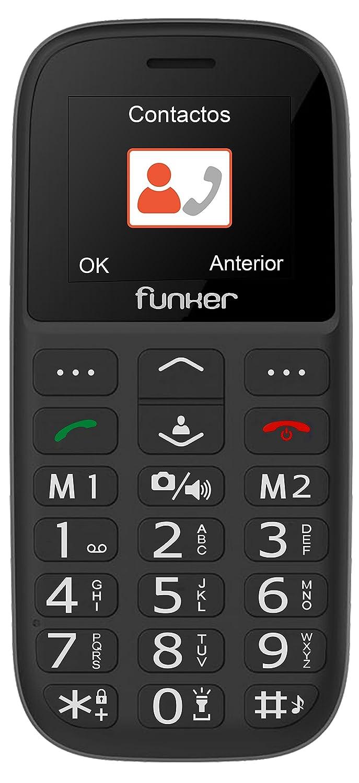 Teléfono Móvil Funker - C65 Negro Easy Plus- para Personas...