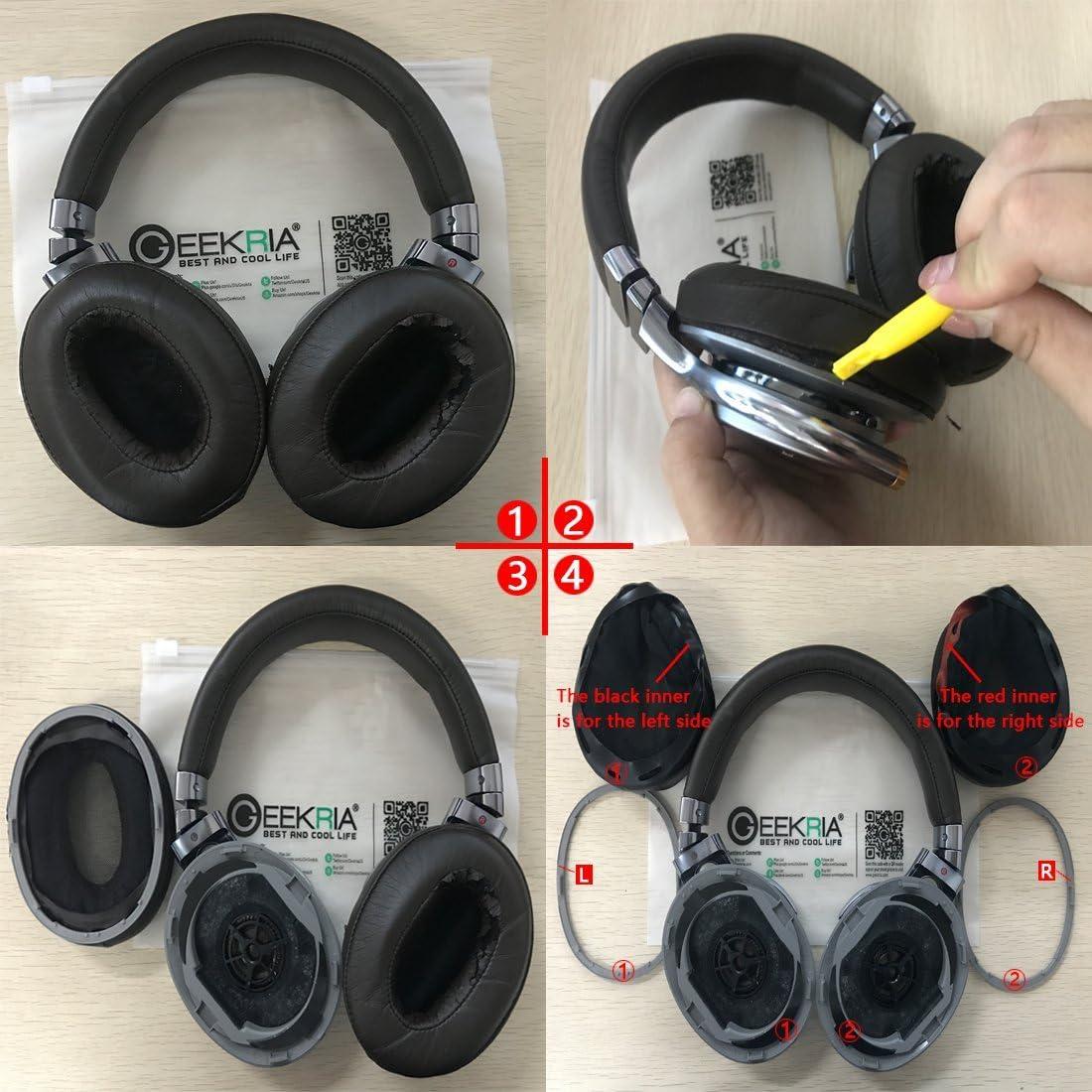 MDR-1RMK2 Headphone Ear Pad//Ear Cushion//Ear Cups//Ear Cover//Earpads Repair Parts Geekria Earpad for MDR-1R Black