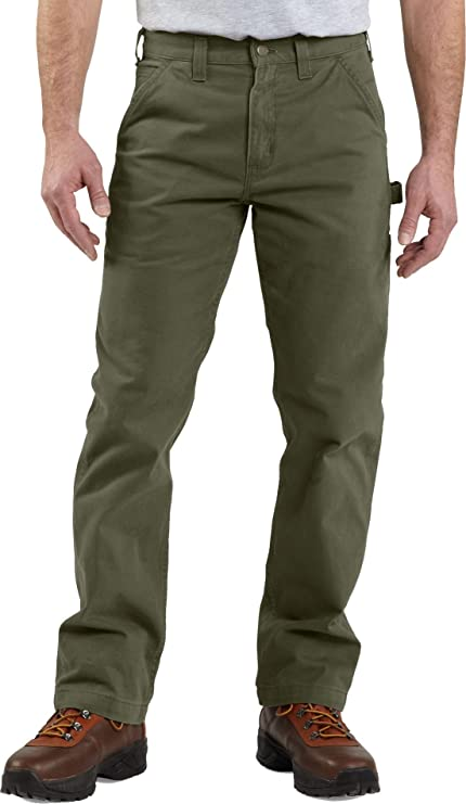 08aafb62f39 Amazon.com  Carhartt Men s Relaxed-Fit Washed Twill Dungaree Pant ...