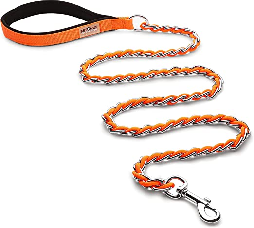 Chewy Dog Leash 4FT//5.2FT Anti-bite Leash Heavy Metal Dog Leash Large Dogs Suitable for Medium-Sized Dogs Suitable for Walking Training Strong and Comfortable Padded Handle
