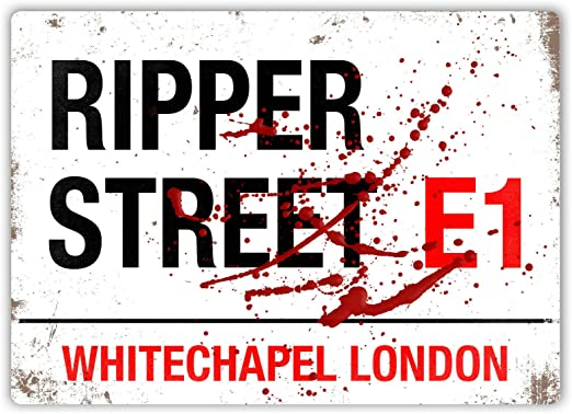 """wenyige8216 8""""x12"""" Ripper Street Sign -Metal Wall Sign Plaque Art ..."""