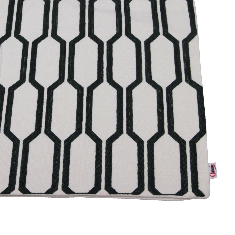 Trapezoid - Beige 1 Pc Geometric Simple Series Embroidered Pillowcase Cushion Cover Throw Pillow Case 18 X 18 Inch 45 X 45 Cm Queenie/®