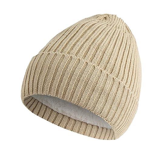 lotus.flower Fashion Men Women Solid Baggy Warm Crochet Winter Wool Knit Ski Beanie Skull