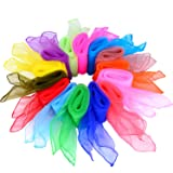 Shappy 28 Pieces Dance Scarves Square Juggling
