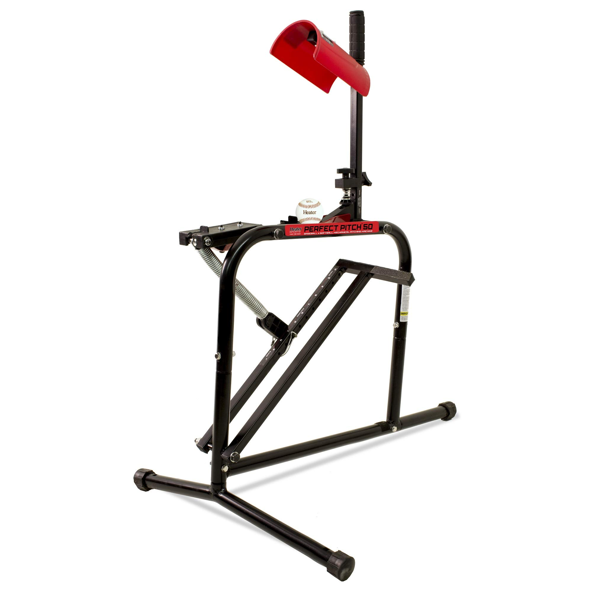 Heater Sports Perfect Pitch 50 MPH Baseball & Softball Pitching Machine for Kids, Teens, Adults, Pitch League, and Coach Pitch - PP149 by Heater Sports