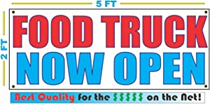 Food Truck Now Open 2x5 Banner Sign