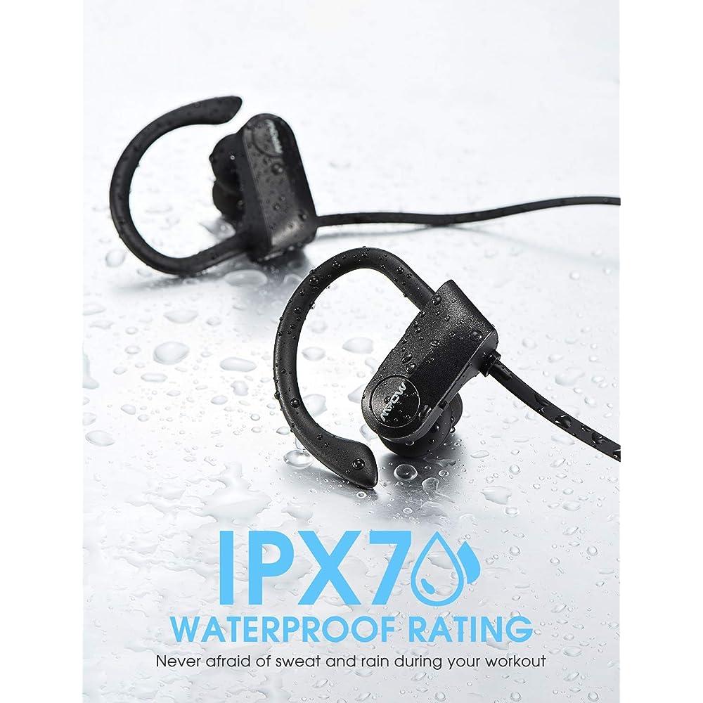 8cde186391b126 Buy Mpow D7 [Upgraded] Bluetooth Headphones, IPX7 Waterproof Real HD ...