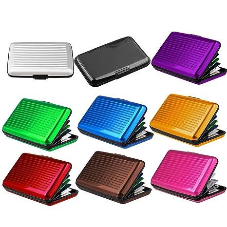 Funda para tarjetas de crédito unisex de aleación de aluminio ...