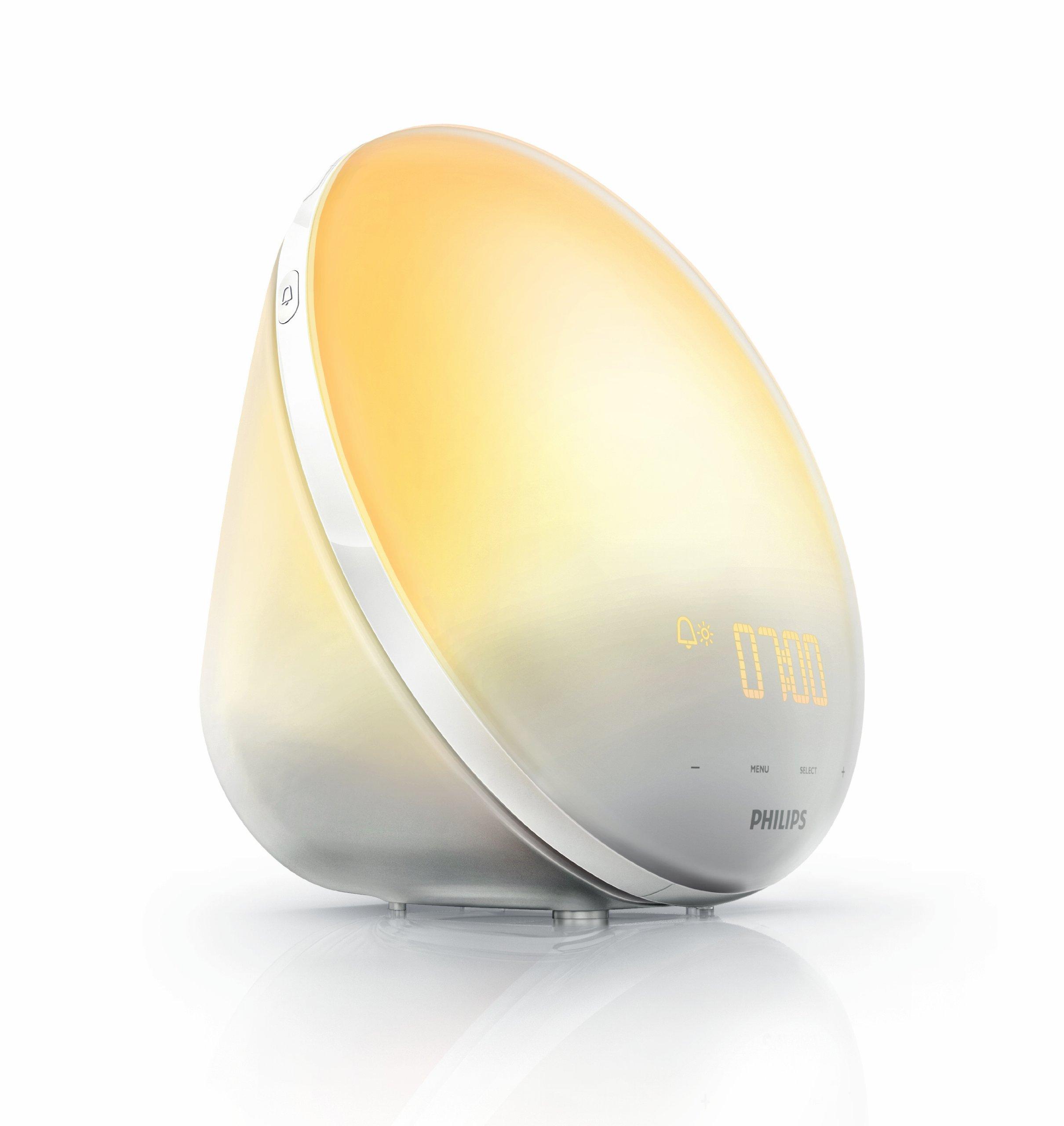 Philips Wake-Up Light Alarm Clock HF3510/01 with Sunrise Simulation - 3 Sounds and Radio Function product image