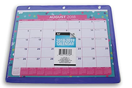 School Calendars 2019-16 Amazon.com: 3 Ring Binder School Calendar   2018 2019 (Polka Dots