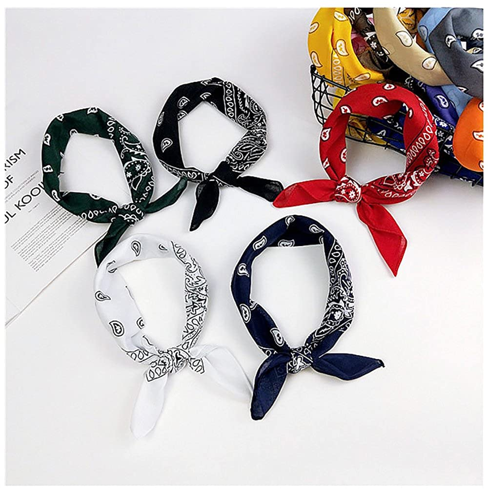 Trebien 3pcs Bandanas Original Paisley 100/% Coton Multicolore Cheveux Bandeau Bandannas Foulard Fichu Mouchoir Echarpe Env.55cm*55cm