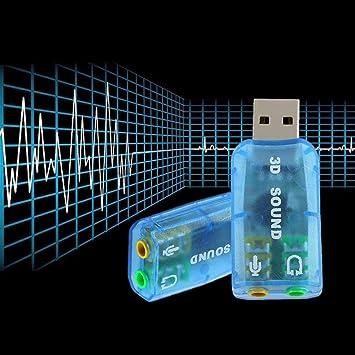 USB 1.1 Mic/Altavoz de Sonido Envolvente 7.1 Adaptador de ...