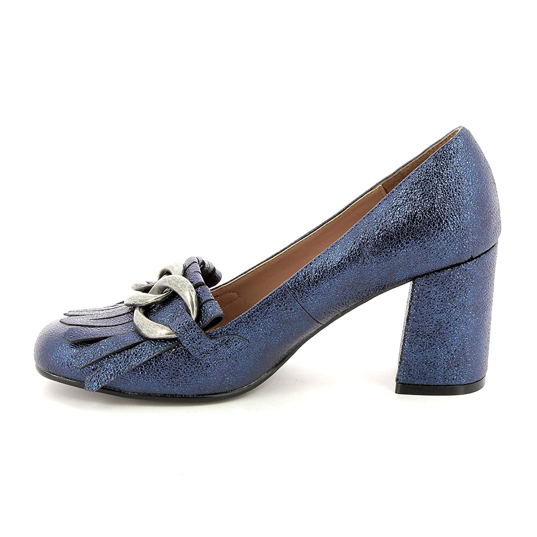 ALESYA by Scarpe&Scarpe - Mocasines Altos con Flecos y Cadena, con Tacones 8 cm: Amazon.es: Zapatos y complementos