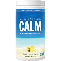 Natural Vitality Calm, Magnesium Citrate Supplement Powder, Anti-Stress Drink Mix...