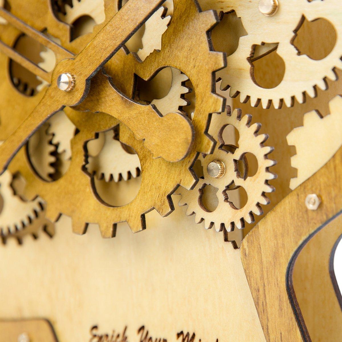 Amazon.com: Kintrot Moving Gear Clock 3D Brain Head Model Retro ...