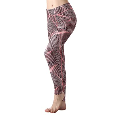 ZOANO Printed Patterned Running Leggings Yoga Workout Pants For Women High Waist