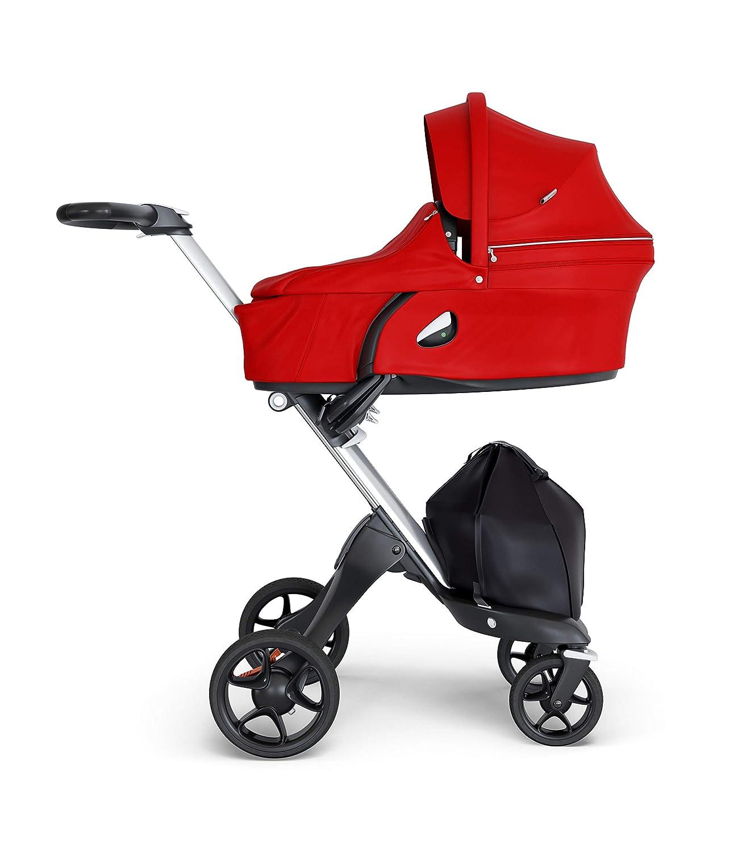 atmungsaktive Matratze aus Sorona Stokke Xplory Babyschale Kinderwagenaufsatz mit fester/&sch/ützender Au/ßenschale Farbe: Red erweiterbares /& bel/üftbares Verdeck mit Blendschutz