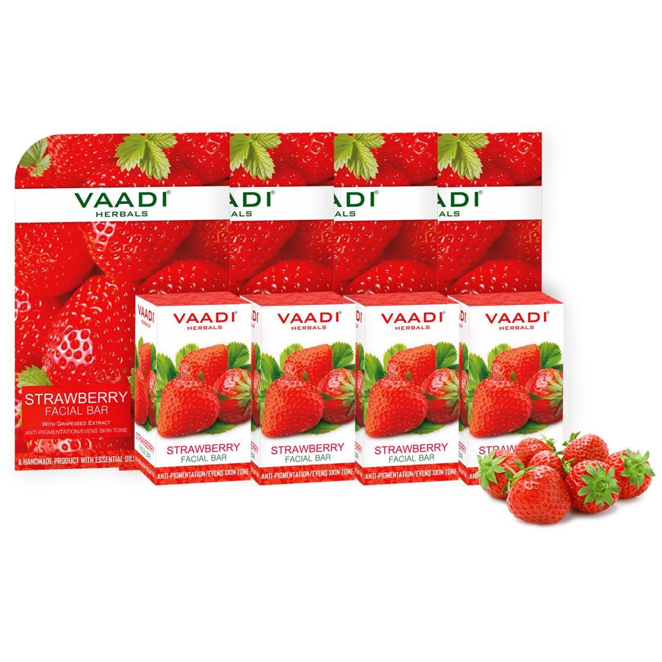 Vaadi Herbals Facial Bar Strawberry 25g Vaadi Herbals Pvt. Ltd