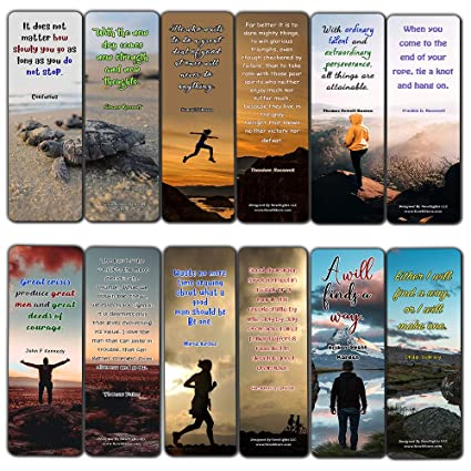 fc4e6cc2df83 Inspirational Quotes Bookmarks Cards Series 2 (12 Pack) - Collection of  Inspiring Quotes from Famous Authors
