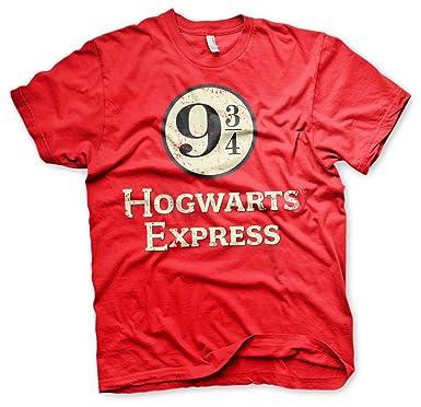 Harry Potter-Piattaforma 9 3//4 S Uomo Medium T-Shirt-Rosso