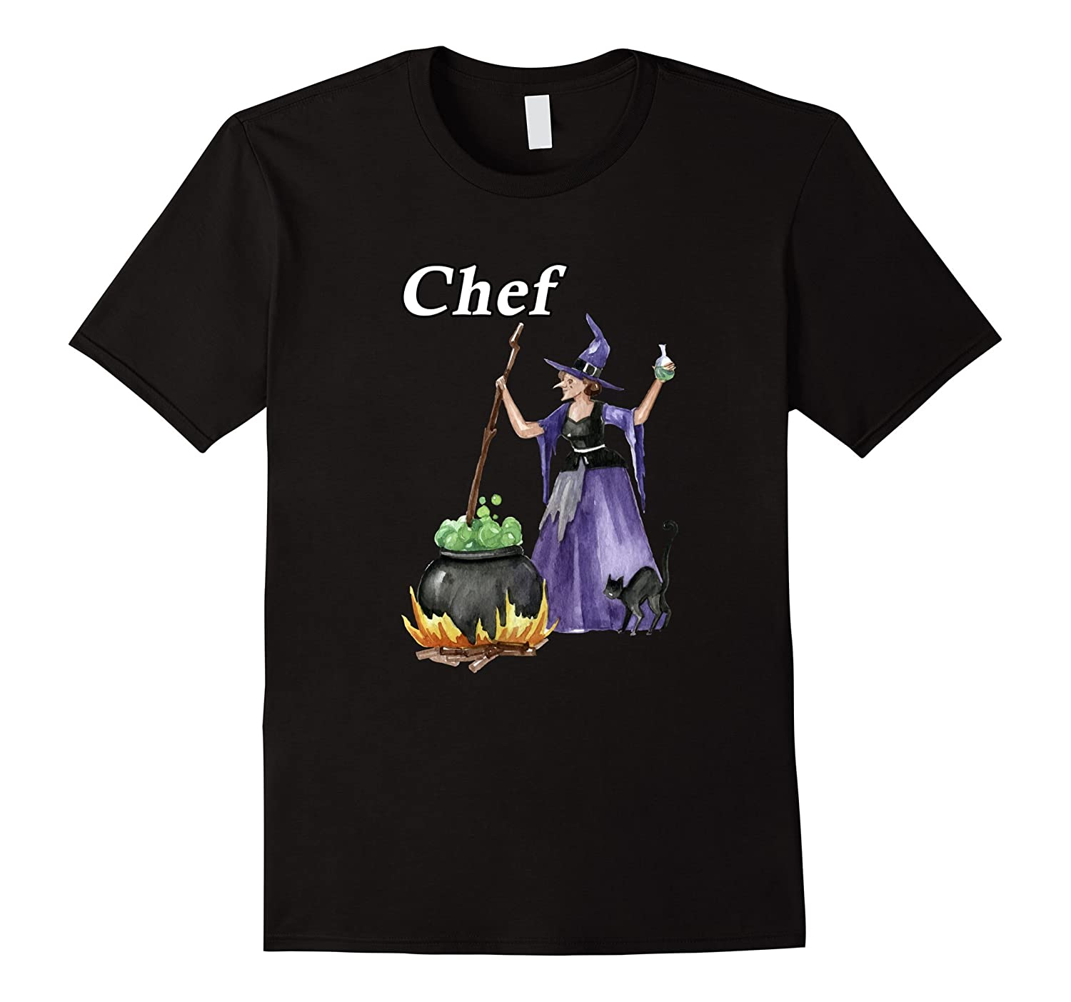 Witch Cauldron Chef Cooking - Men Women Youth T Shirt-FL