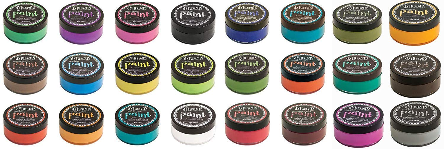 Ranger - Dyan Reaveley Dylusions Acrylic Paint - Lot of 24 Colors Jars Bundle by Ranger Ink
