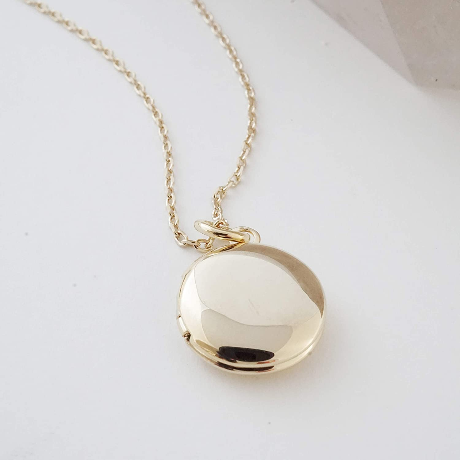 Image result for amazon honeycat mini locket necklace in gold