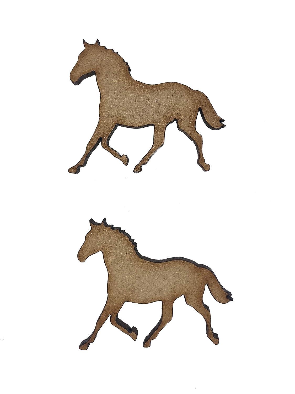 Laser cut wooden shape 4cm 3cm MDF Horseshoe 2cm 5cm