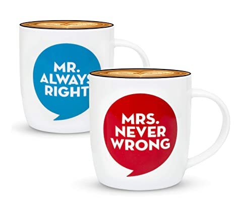 Amazon.com: gifffted Mr Always Right y Mrs nunca se equivoca ...
